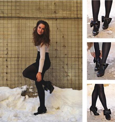 Viktor & Rolf-Inspired DIY bow heels
