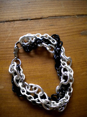 Finished DIY Chain Bracelet