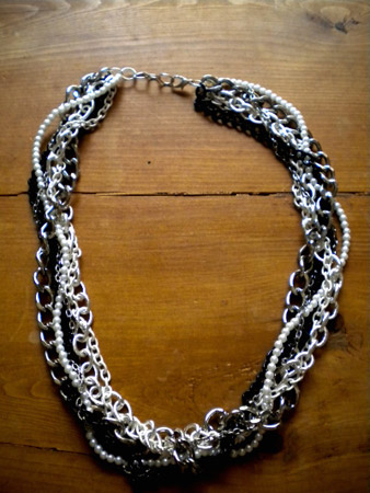 Finished multi-chain necklace