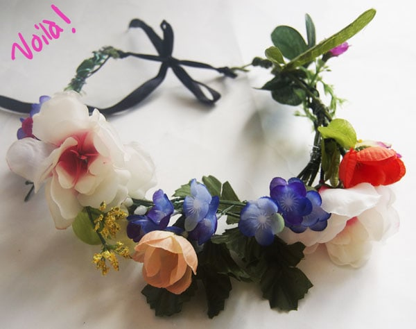 Finished product diy floral crown