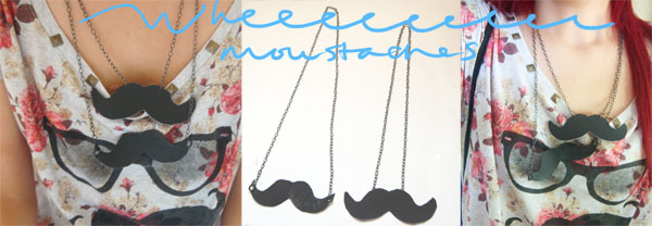 Finished Product DIY Moustache Necklace