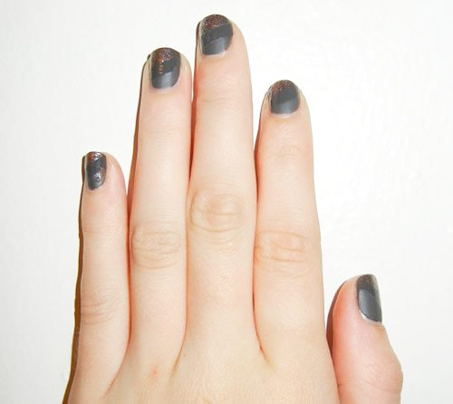 Finished product: DIY nail art - mixed finishes