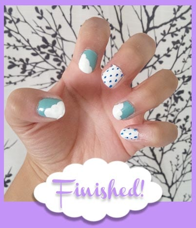 Finished nails skies tutorial actual