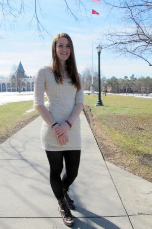 College fashionista Fiona at Union College