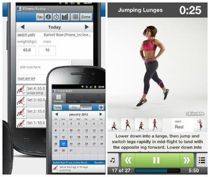 Fitness apps for droid and iphone