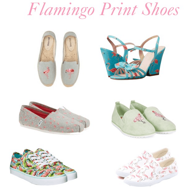 Flamingo print shoes