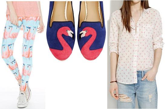 Flamingo print trend