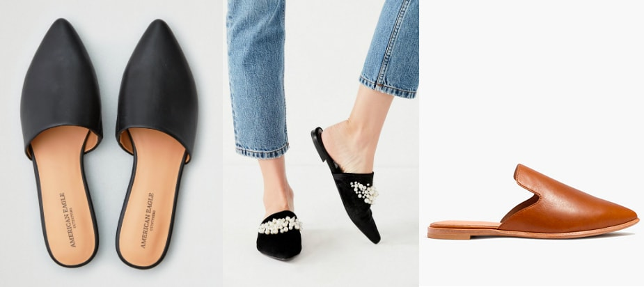 Flat Pointed Toe Mules Trend