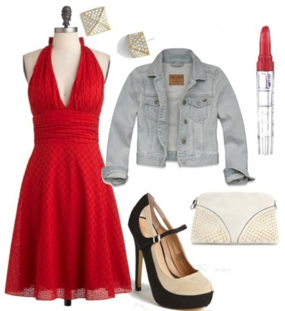 flattering hourglass outfit dressy