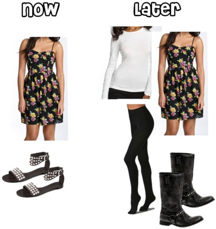 How to wear floral dresses in summer and in fall