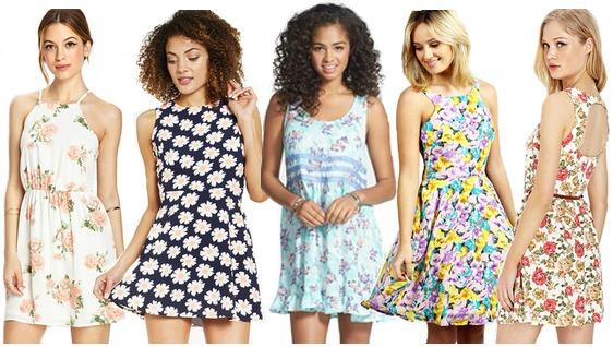 Floral dresses under $50