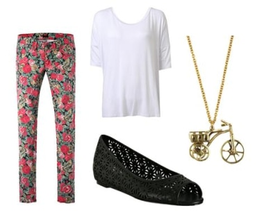 Floral Jean Outfit 1