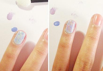 Floral nail art tutorial: Step 3