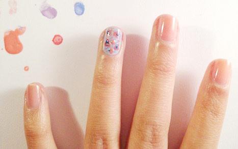 Floral nail art tutorial: Step 5