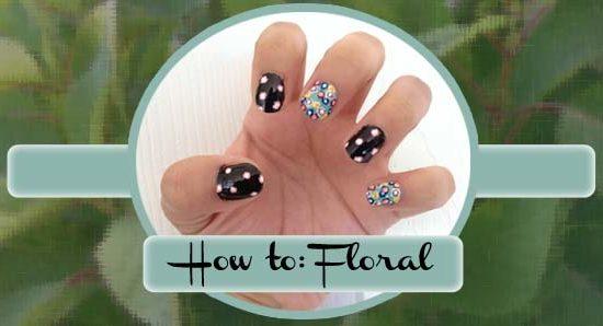 Floral nail design header