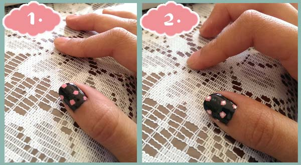 Floral nail pink flowers actual