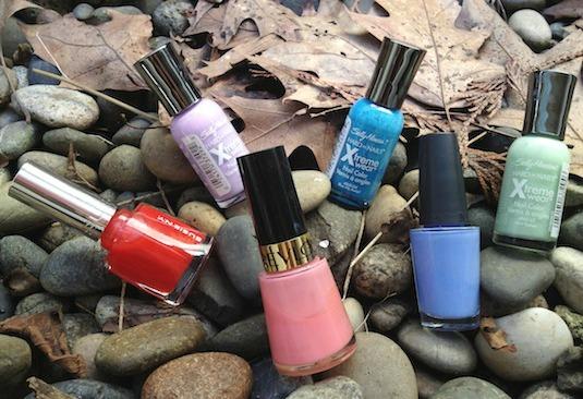 Floral nail polish tutorial polishes