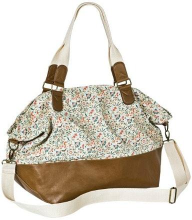 Floral print weekender bag