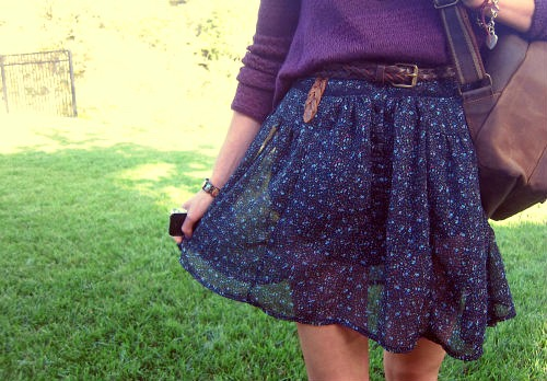 Floral skirt at cal poly san luis obispo