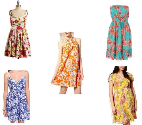 Floral summer dresses under