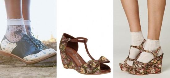 Floral Patterned Shoes