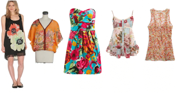 Floral Print Clothes and Accessories