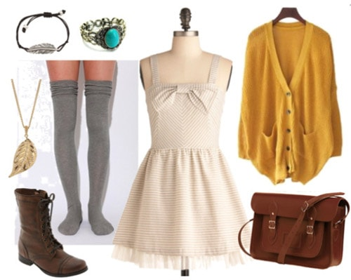 Fashionable outfit with a white dress inspired by Florance and the Machine