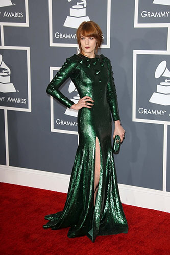 Florence Welch in Custom Givenchy at the 2013 Grammys