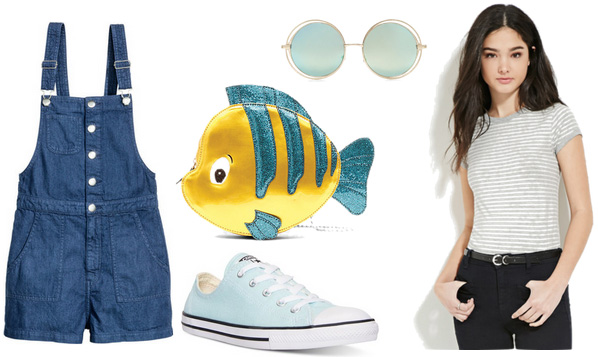 Little Mermaid flounder clutch outfit