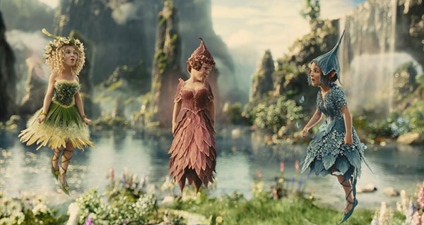 The flower pixies Maleficent movie