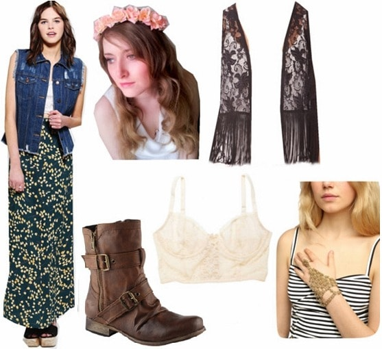 Flowers in your hair outfit