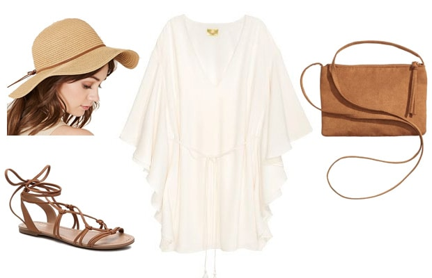 Flowy white dress spring summer outfit