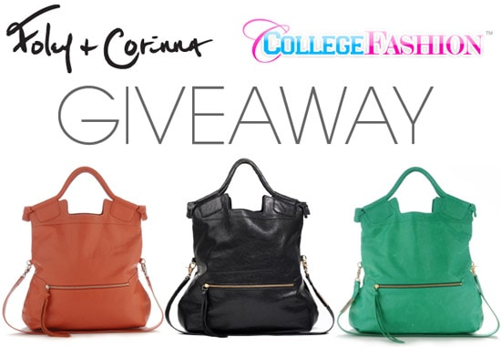College Fashion and Foley + Corinna Giveaway: Win a Mid City Tote!