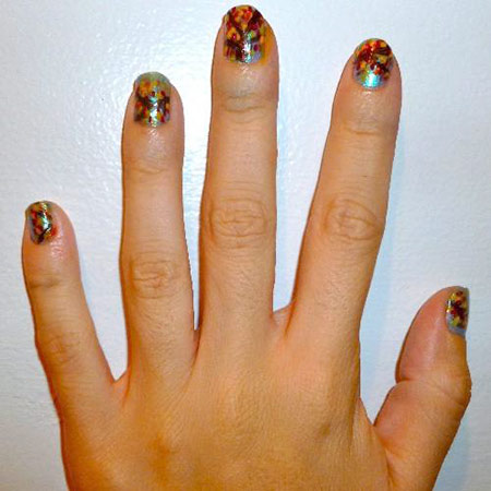 Foliage nails - leaves