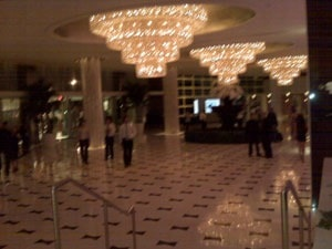 Lobby of the Fontainebleau Hotel in Miami