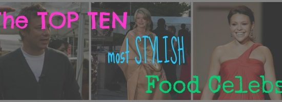 Food fashion celebs