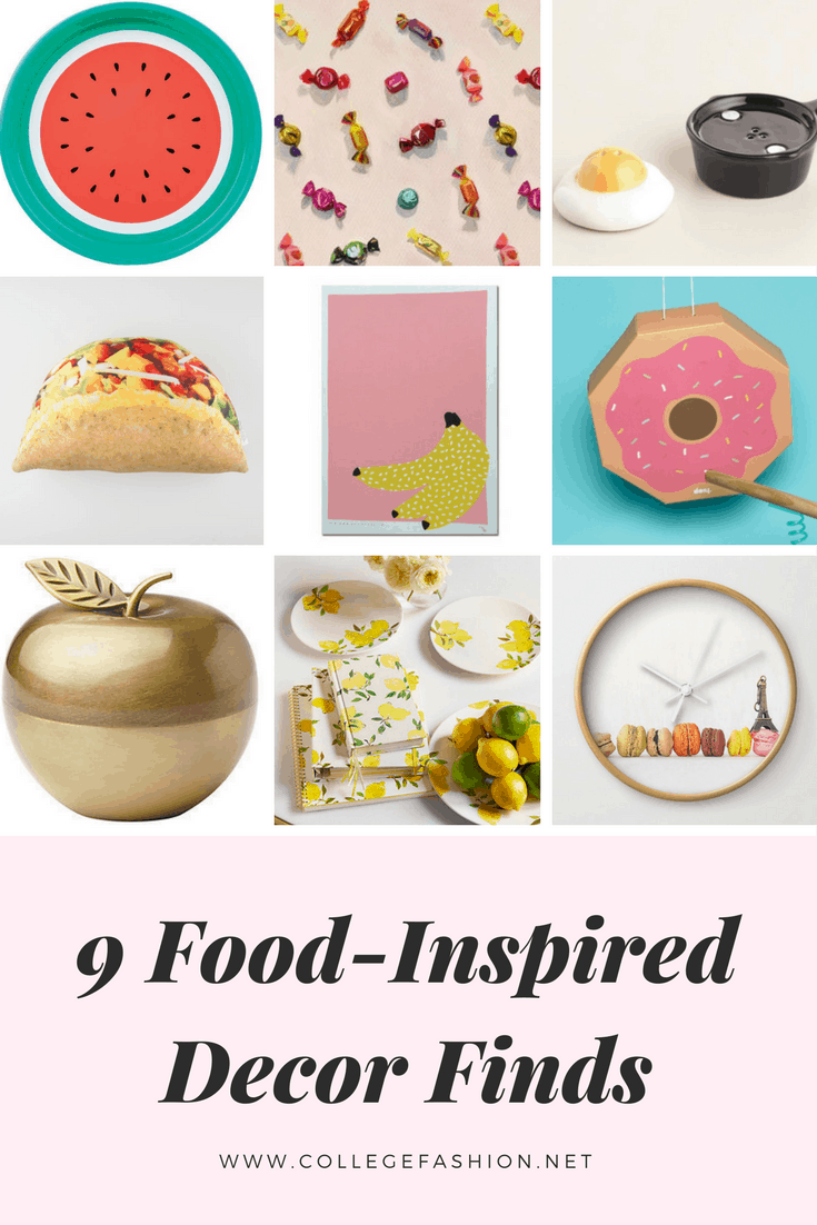 Food inspired decor finds
