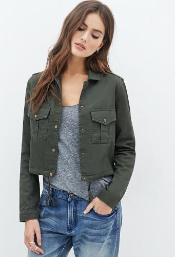 Forever 21 boxy utility jacket