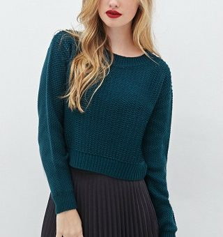 Forever 21 chunky knit boxy sweater
