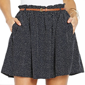 Forever 21 dotted and ruffled skirt