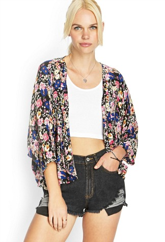 Fabulous Find of the Week: Forever 21 Floral Kimono Jacket ...