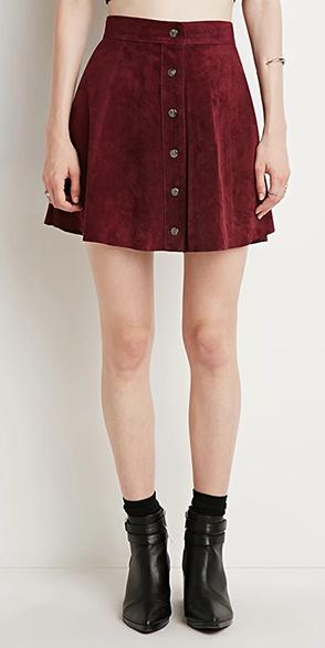 Forever 21 Marsala skirt