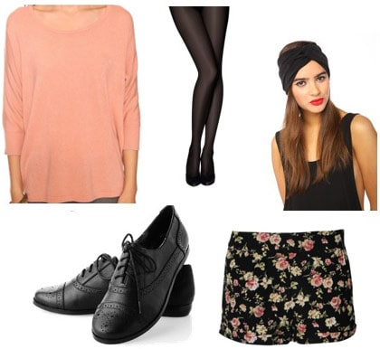 How to wear a pink Forever 21 dolman sweater with shorts