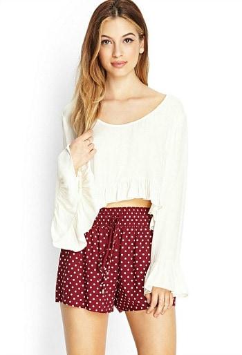 Forever 21 polka dot woven shorts