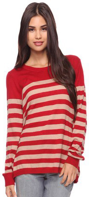 Forever 21 red and white striped sweater top