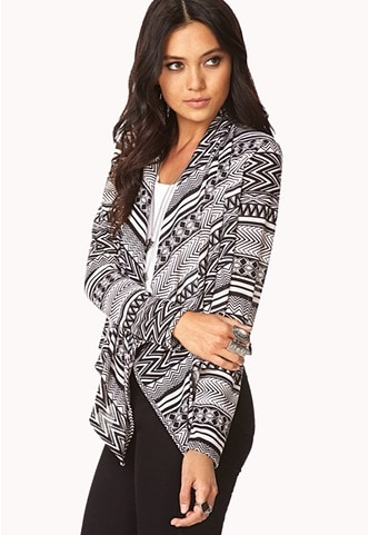 Forever 21 standout zigzag draped cardigan