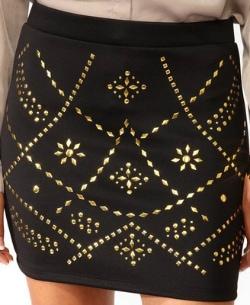 Forever 21 studded skirt