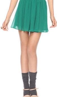 Forever 21 teal flip skirt