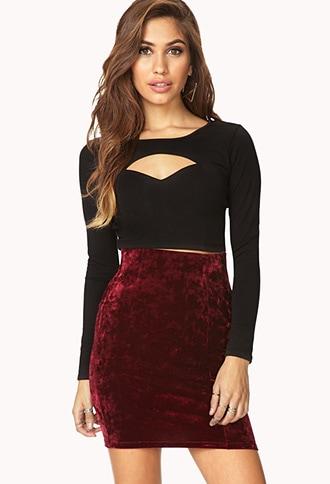 Forever 21 velveteen bodycon skirt