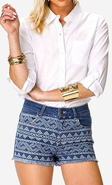 Forever 21 white oxford shirt